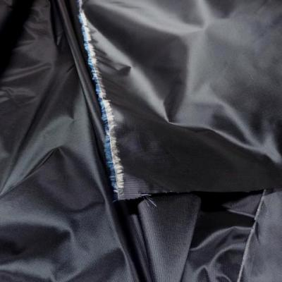 Taffetas gris bleute fines rayures 1