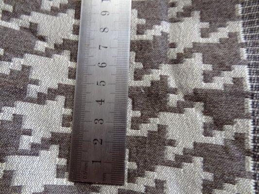 Tissu bandes pied de poule géant 02