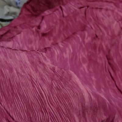 Tissu accordéon framboise rose 4