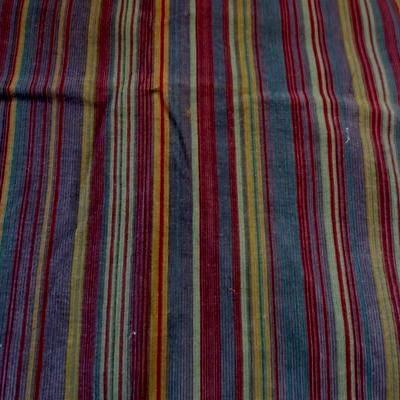 Velours de coton fines rayures colorées 01