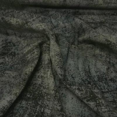 Velours lycra kaki brun effet d usure imprime