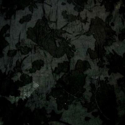 Voile polyester noir devore 2