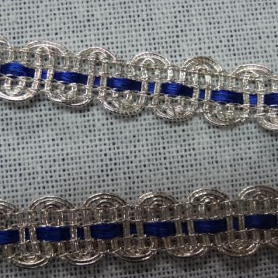 1227 croquet argent et ruban satin bleu nuit 2