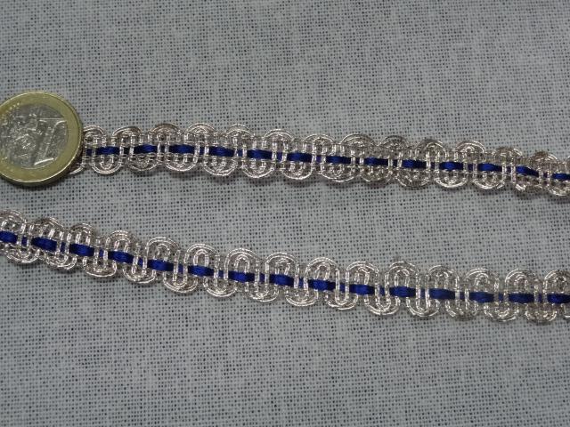 1227 croquet argent et ruban satin bleu nuit 3