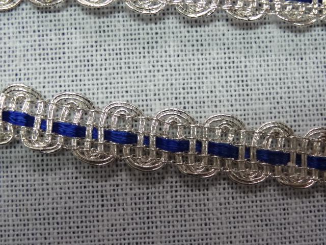 1227 croquet argent et ruban satin bleu nuit 4