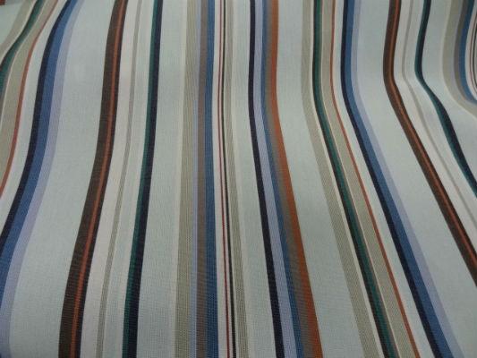bâche fines raies azur-ciel-marron-vert 6