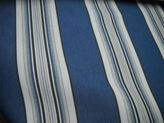 Bache larges bandes bleu denim blanc noir 2