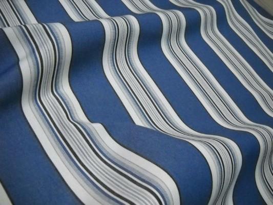 Bache larges bandes bleu denim blanc noir 3