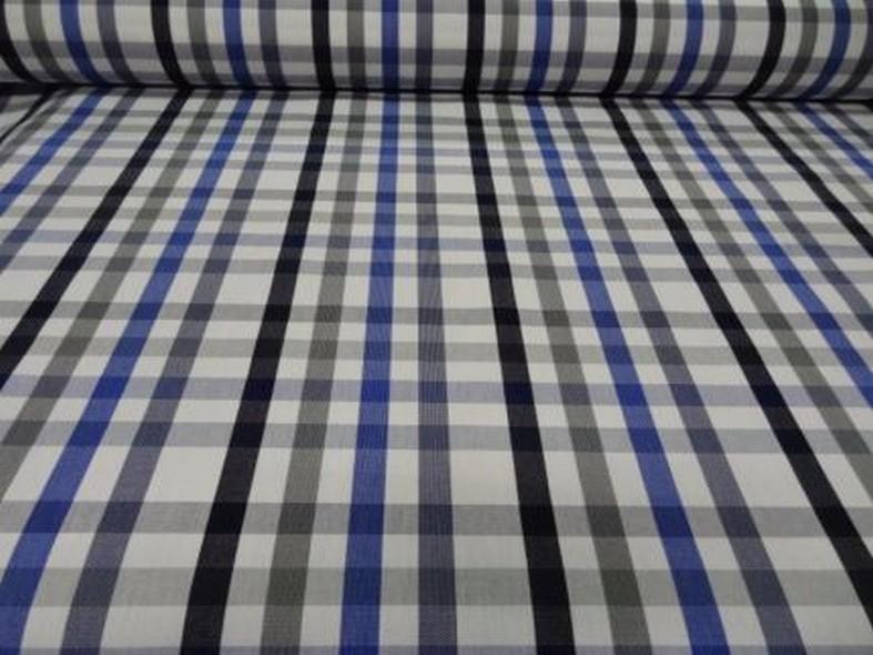 Bache madras bleu et gris chine 1