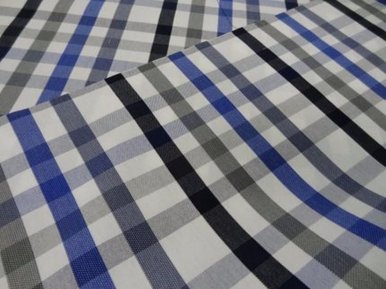 Bache madras bleu et gris chine 2