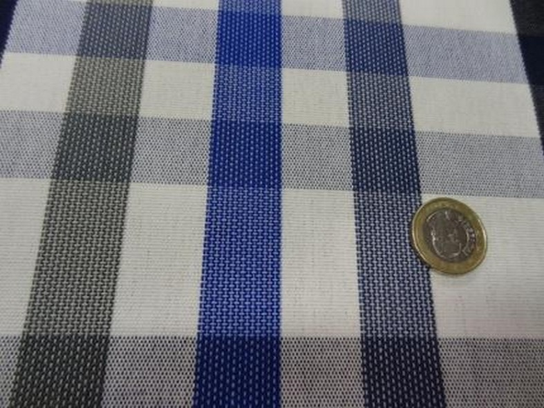 Bache madras bleu et gris chine 3