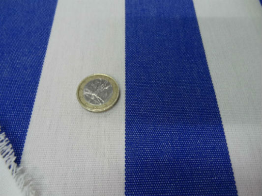 Bache rayures moyennes blanc bleu outremer 1