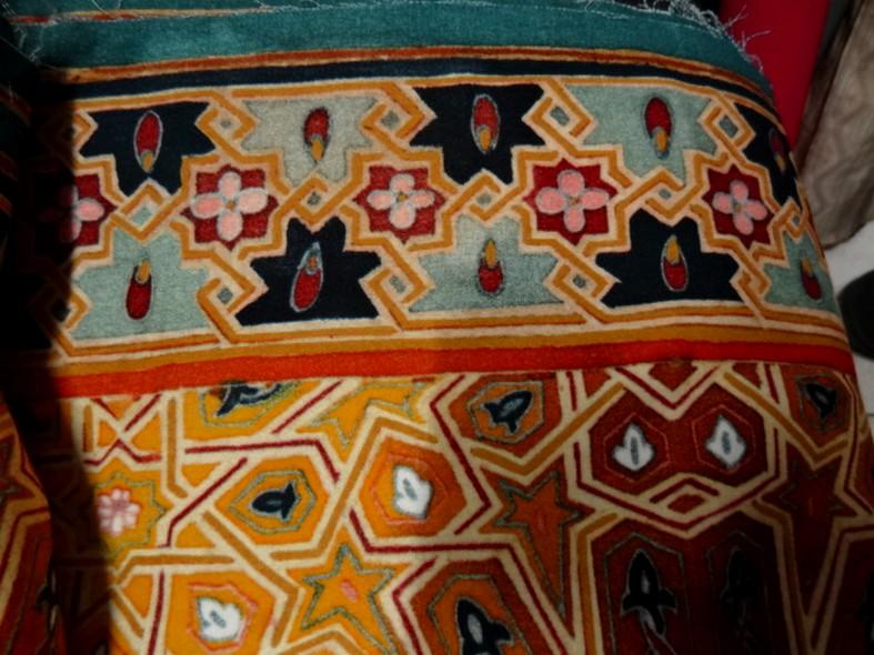 Bande de velours de coton azteque ocre 2