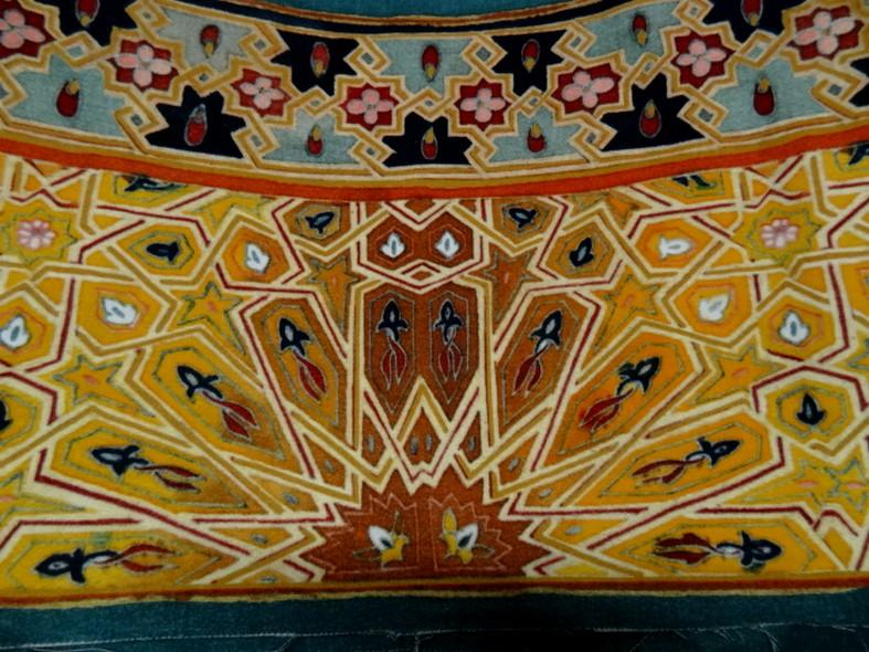 Bande de velours de coton azteque ocre 3
