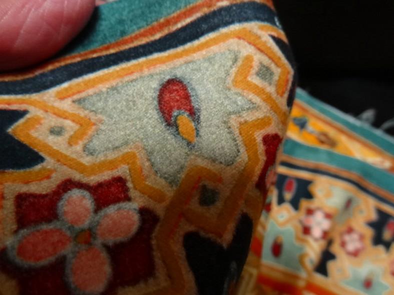 Bande de velours de coton azteque ocre 4