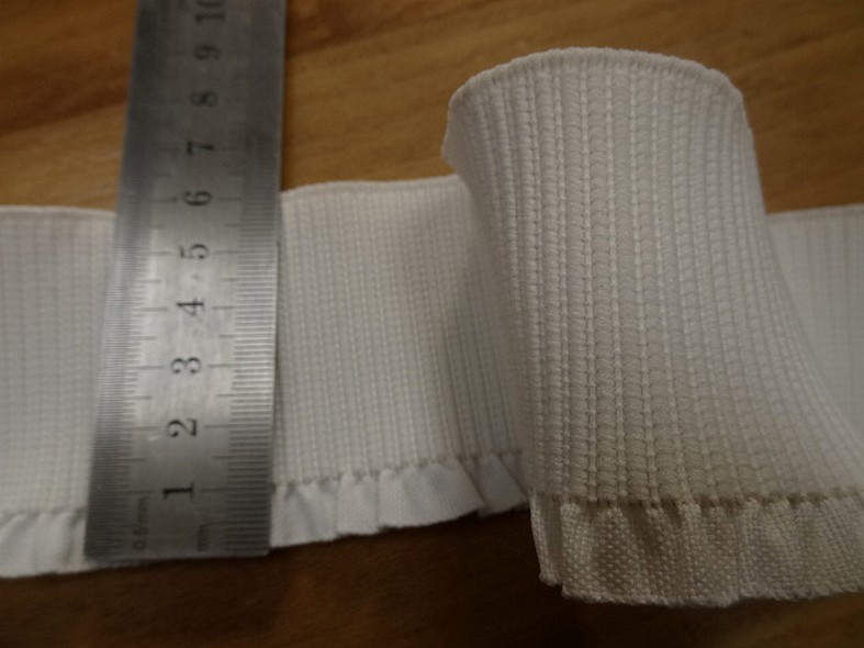 Bande elastique large blanc casse a volant 2