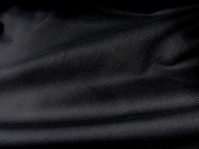 Belle gabardine coton noire2
