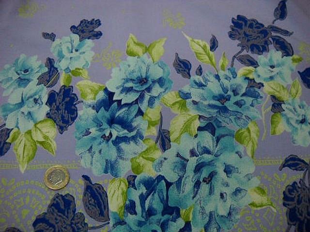 Bengaline lycra mauve clair embase fleurie bleu sarcelle et klein 3