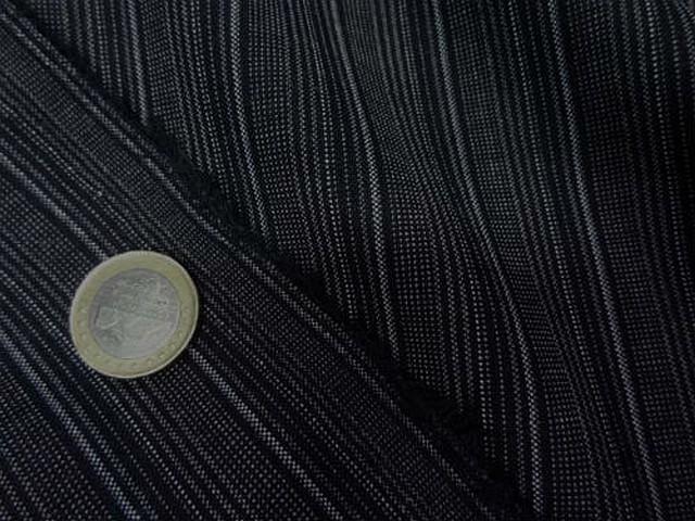 Bi stretch noir fines rayures grises