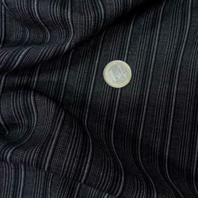 Bi stretch noir fines rayures grises 1