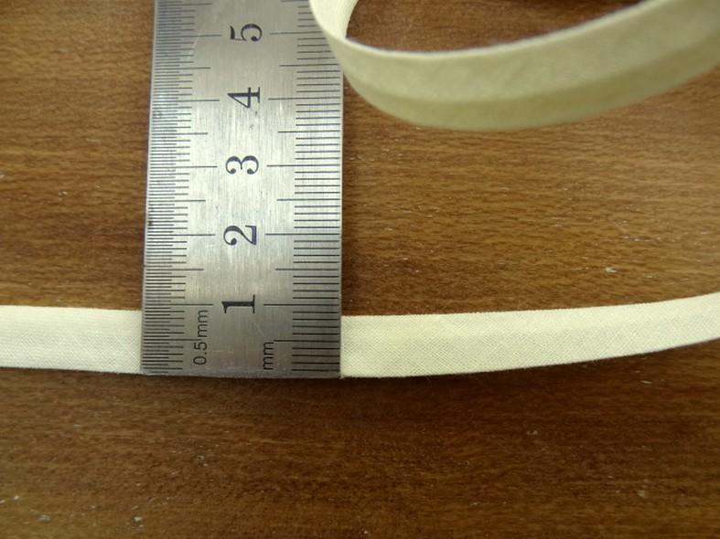 Biais coton blanc casse 18 mm 1