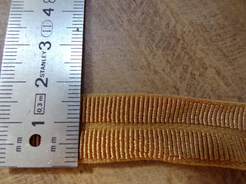 Biais gros grain pre plie elastique ocre tanne 2