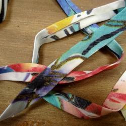 biais jersey fin fleuri 13 mm