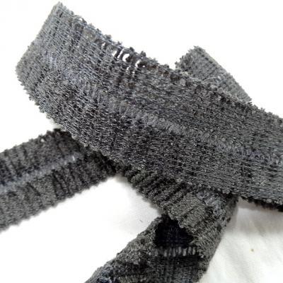 Biais velours chenille gris 3