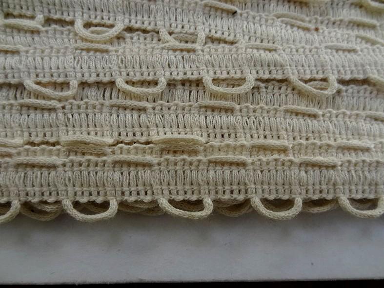 Bordure en coton passe lacet ecru 2