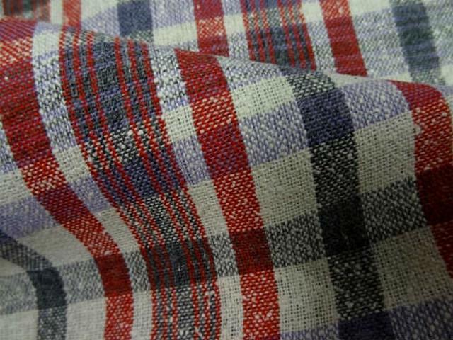 Bourrette de soie a carreaux rose rouge vermillon bleu de prusse 2