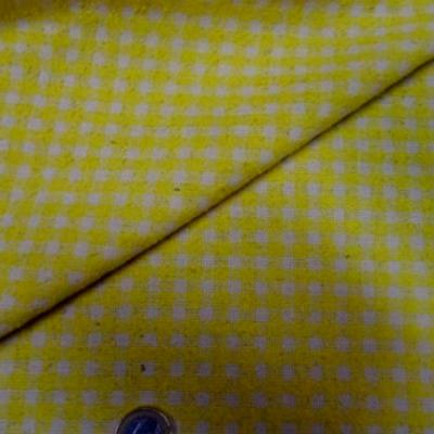 Bourrette de soie vichy jaune blanc 3