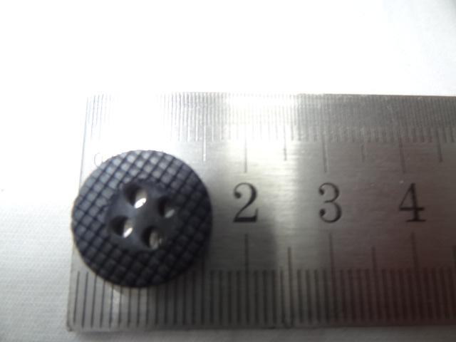 Bouton bord plat mosaique marbre noir gris 15 mm