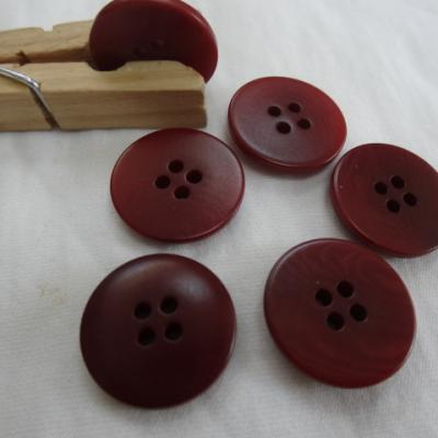 Bouton corozo rouge sang moire 20 mm 1