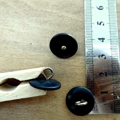 Bouton de bottine noir a queue metal 12 mm copie