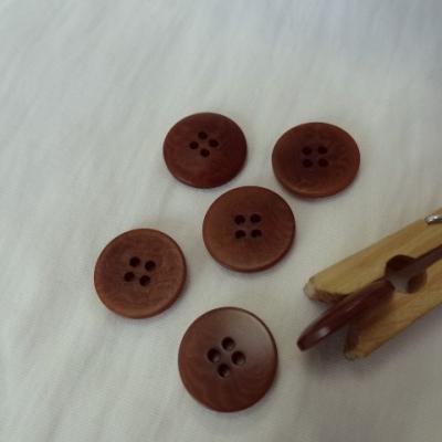 Bouton fauve moire 20 mm 1