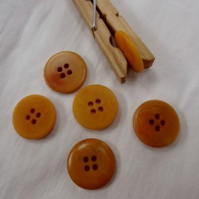 Bouton ocre jaune moire 20 mm 1