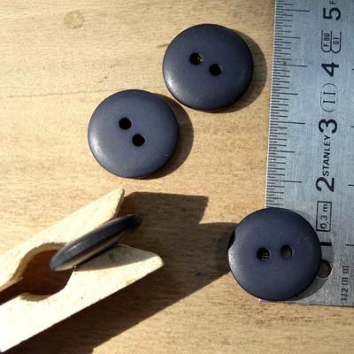 Bouton pastille ultra mat gris ardoise 15 mm
