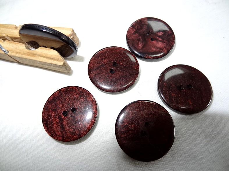 Bouton plat teinte rouge bourgogne brillant marbre 1