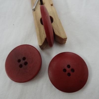 Bouton rouge carmin moire 25 mm 1