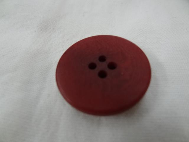 Bouton rouge carmin moire 25 mm 3