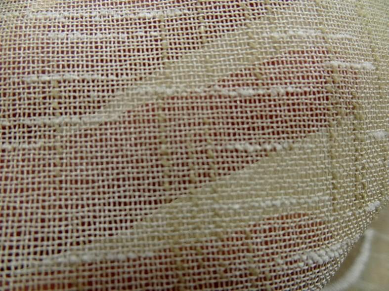 Brise bise imitation voile de lin brode 52 cm 1