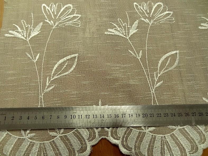 Brise bise imitation voile de lin brode 52 cm 3