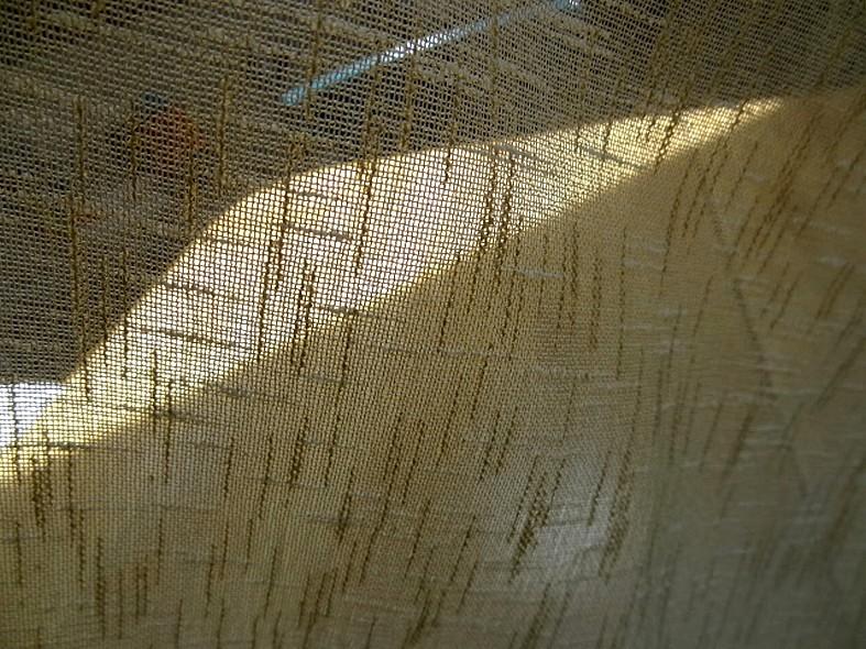 Brise bise imitation voile de lin brode 52 cm 4