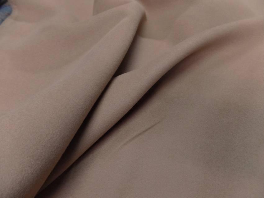 tissu caban imitation drap de laine beige