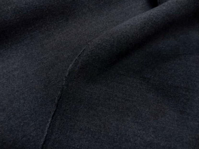 Caban imitation drap de laine gris fonce 2