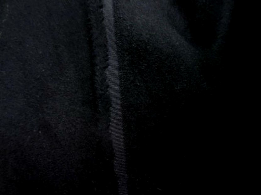 Caban imitation drap de laine noir 2