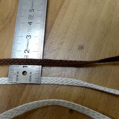 Corde plate tressee coton mercerise