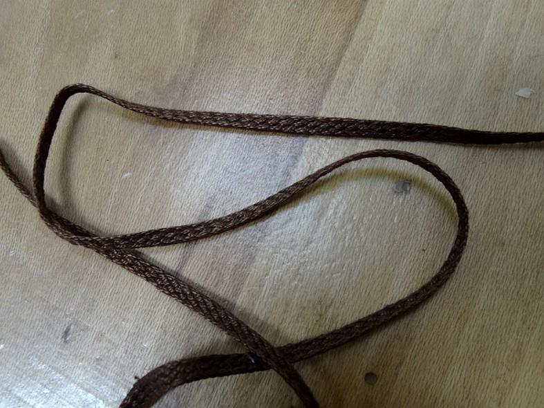 Corde plate tressee coton mercerise caramel 1