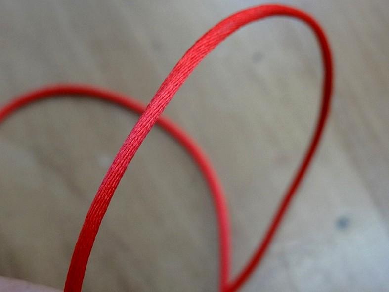 Cordon queue de rat rouge 2