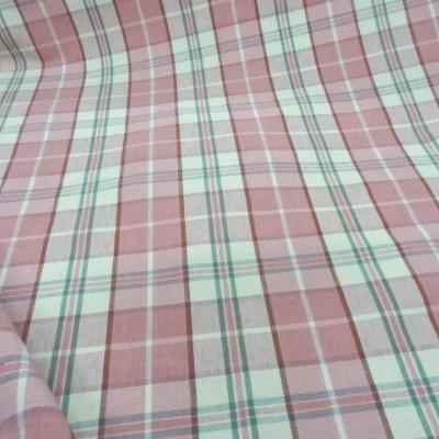 Coton ameublement carreaux rose blanc casse8 1